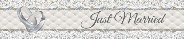 Banner Foil Just Married 2.6m x 19cm