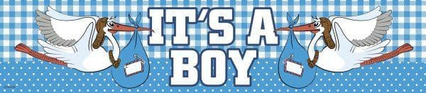 Banner Foil New Baby Arrival Its a Boy 2.6M