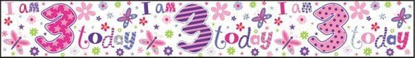 Banner Happy Birthday 3rd Girl