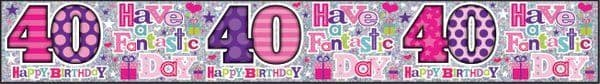Banner Happy Birthday 40th 40th