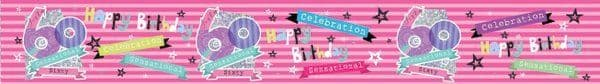 Banner Happy Birthday 60th Female