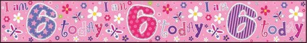 Banner Happy Birthday 6th Girl