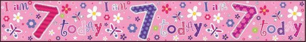 Banner Happy Birthday 7th Girl