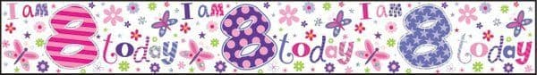 Banner Happy Birthday 8th Girl