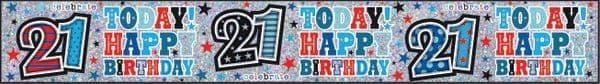 Banner Happy Birthday Age 21