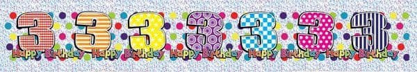Banner Happy Birthday Age 3