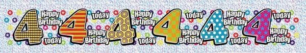 Banner Happy Birthday Age 4