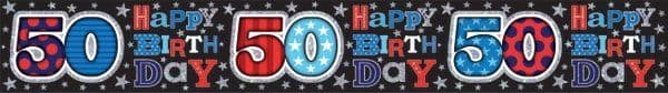 Banner Happy Birthday Age 50