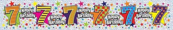 Banner Happy Birthday Age 7