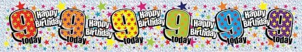 Banner Happy Birthday Age 9