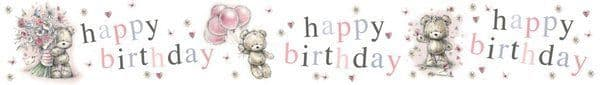 Banner Happy Birthday Bear Baloo Animal Grizzly