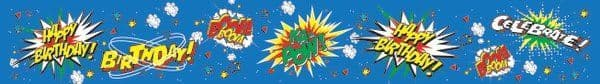 Banner Happy Birthday Ka Pow Superhero Party Decoration Hero Villian Super Hero