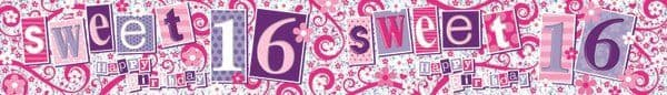 Banner Happy Birthday Sweet 16