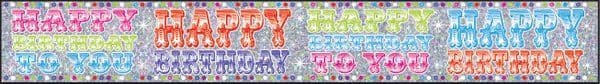 Banner Happy Birthday Unisex