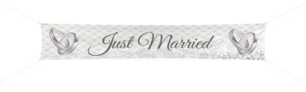 Banner Just Married 3.6m x 60cm