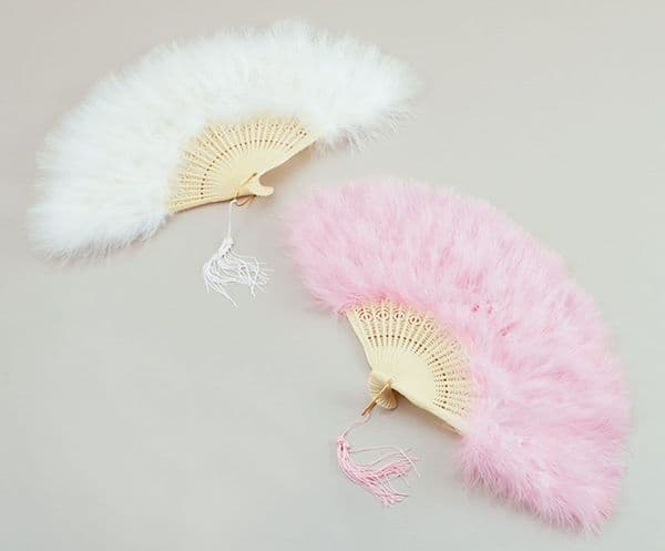 Baroque Feather Fan Moulin Rouge Can Can French Fancy Dress Party