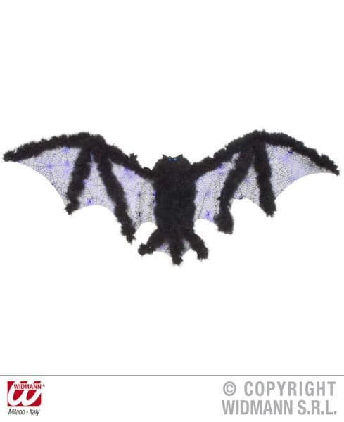 Bat Wings W/Marabou 102cm x 35cm Dracula Halloween Vampire Fancy Dress