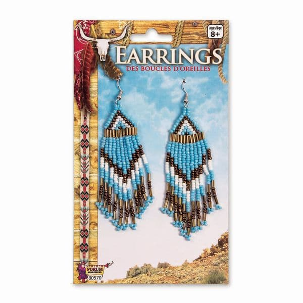 Beaded Earrings (Western) Fancy Dress Cosmetic Jewellery