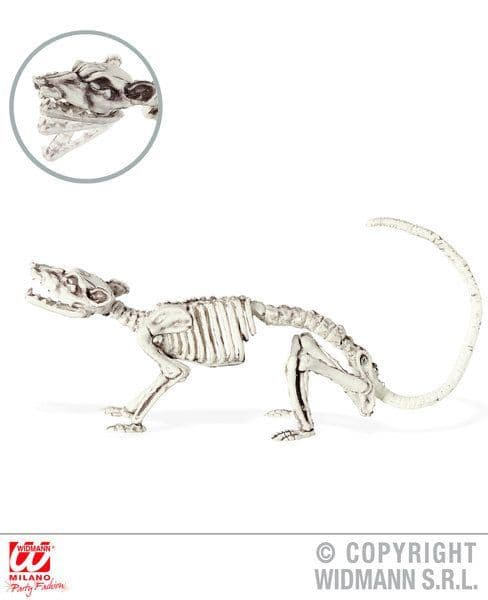 Bendable Rat Skeleton Prop Decoration 38cm Halloween Vermin Rodent Fancy Dress