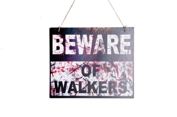 Beware of Walker Sign Party Decorations