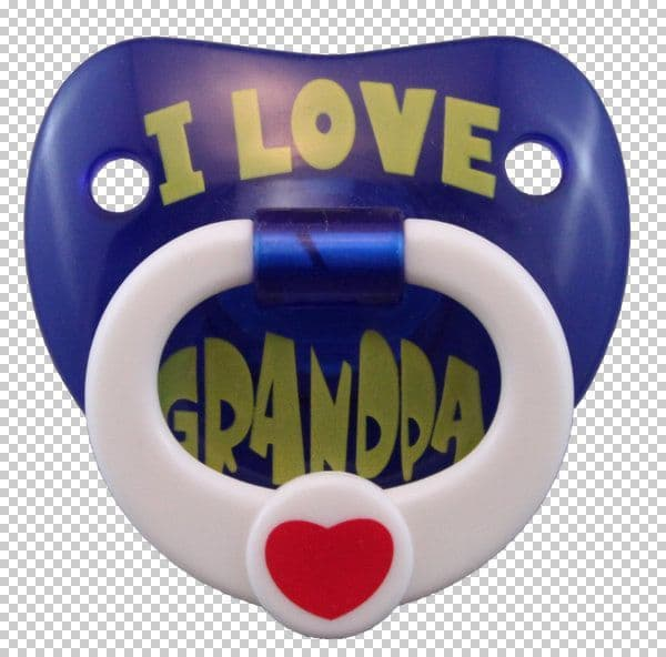 Billy Bob SFX Pacifier I Love my Grandpa Baby Soother Comforter Dummy