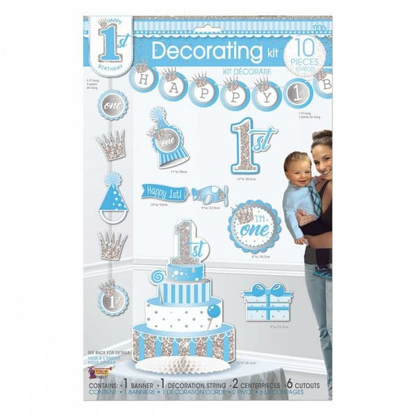 Birthday (1st) Boy Decorating Kit Dress-up Kit