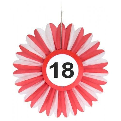 Birthday Milestone Traffic Speed Limit Sign Honeycomb Fan