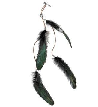 Black Feathers Hair Clip 20s Flapper Fancy Dress
