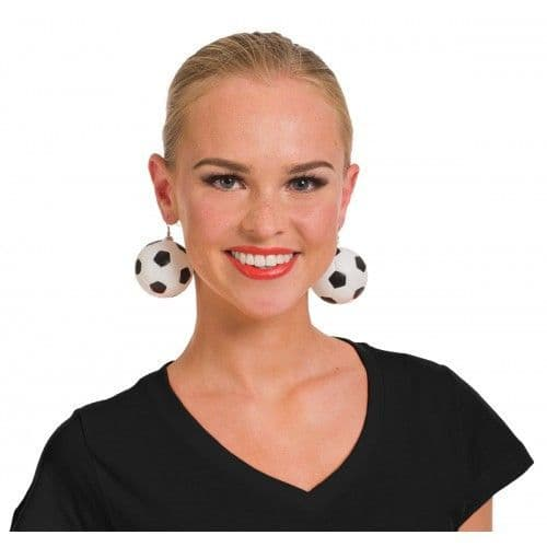 Black & White Football Earrings Ladies Girls Soccer Birthday World Cup Gift