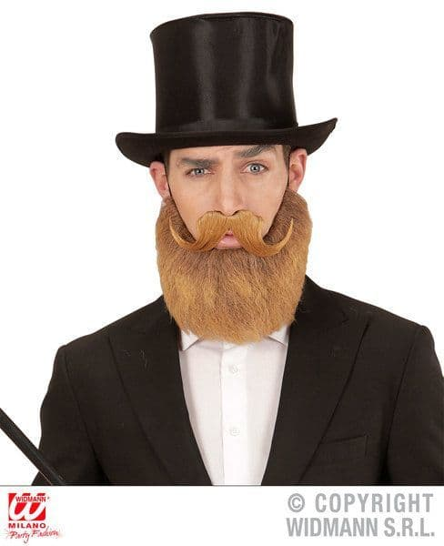 Blonde Beard And Moustache Fancy Dress Accessory Victorian Dickensian Edwardian