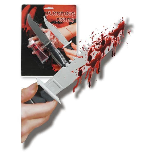 Blood Red in tube with a Knife 22cm Vampire Zombie Bleeding