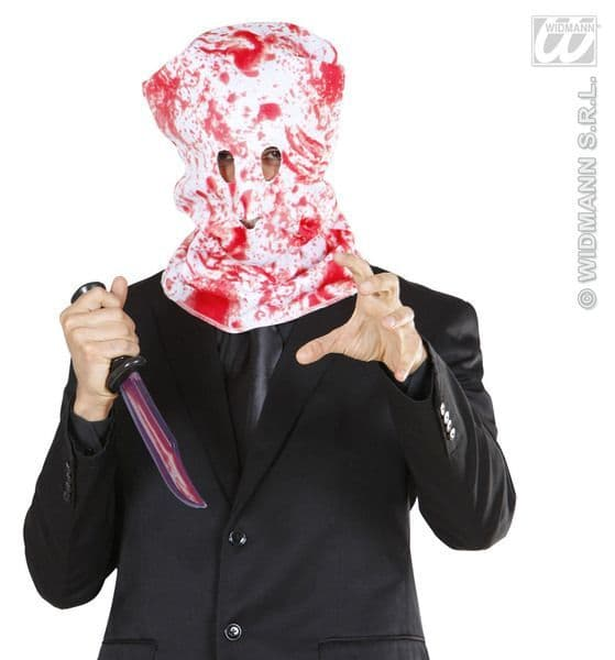 Bloody Horror Hood Mask Vampire Zombie Bleeding Fancy Dress
