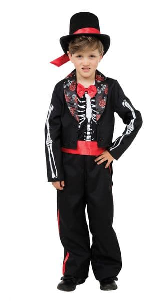 Boys Day of the Dead Boy Costume Mexican Halloween Fancy Dress Outfit