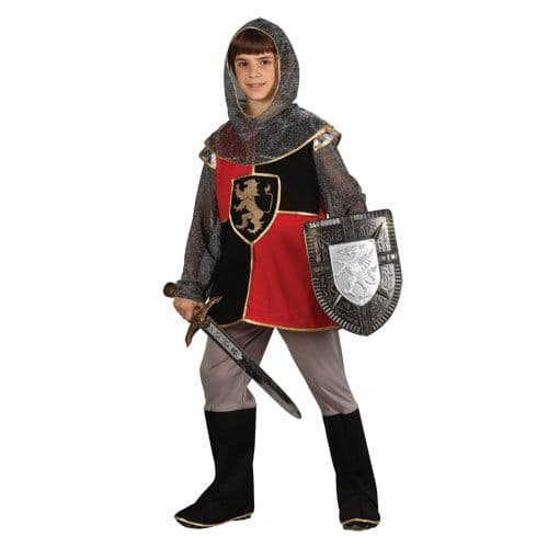 Boys Deluxe Knight Of the Realm Costume Medieval Times Middle Ages Fancy Dress