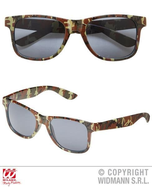 Camouflage Glasses Soldier Army Private Fancy Dress