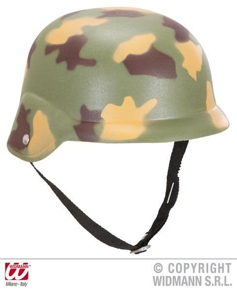 Camouflage Helmet Hat Soldier Army Private Fancy Dress