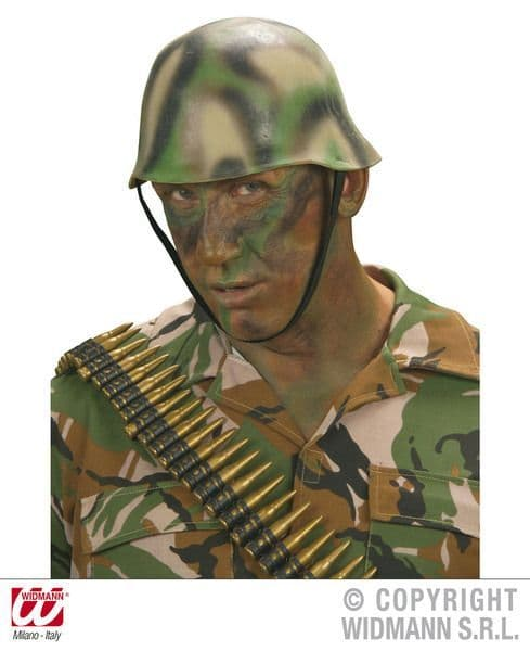 Camouflage Soldier Helmet Hat Soldier Army Private Fancy Dress