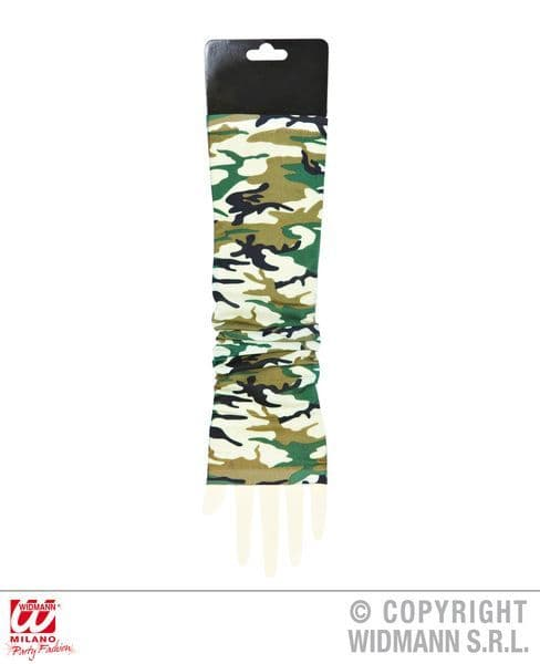 Camouflage Tattoo Sleeves Pair Soldier Army Private Cosmetics