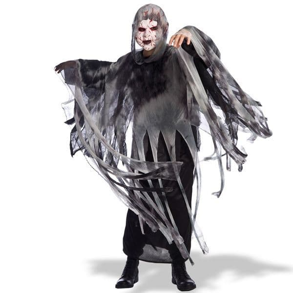 Cape with Hood Ghost 130cm Villian Super Hero Superhero
