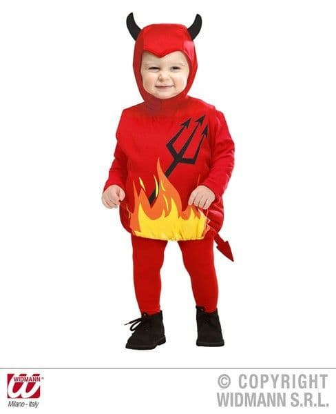 Child Devil 104cm Costume Halloween Satan Lucifer Fancy Dress Outfit