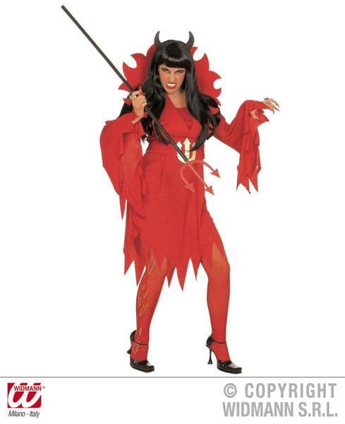 Child Devilin Teen Costume Halloween Devil Satan Fancy Dress Outfit
