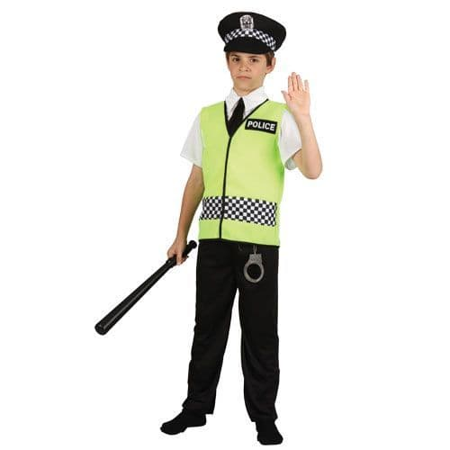 Childrens Boys Policeman Costume for Cop Police Man Copper Bobby Fancy Dress