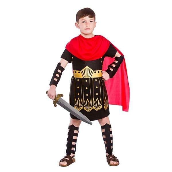 Childrens Boys Roman Commander Costume for Ancient Rome Greek Latin Fancy Dress