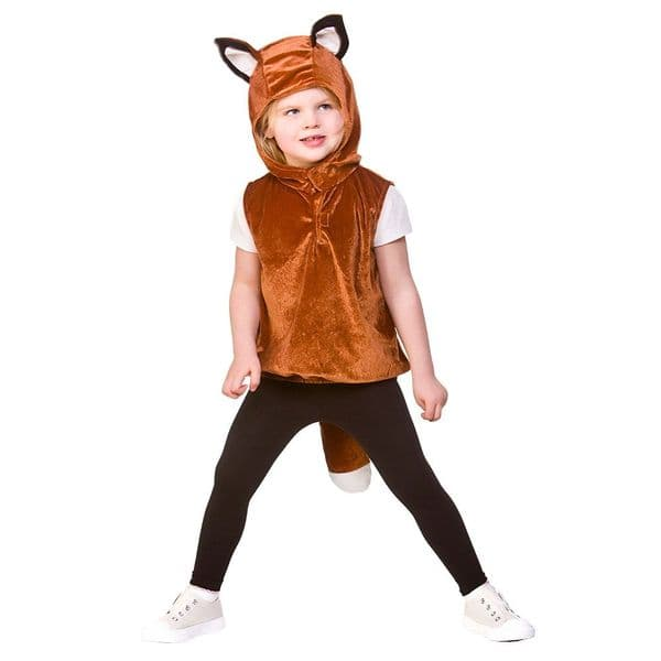 Childrens Child Tabard - Fox Costume Unisex Fancy Dress