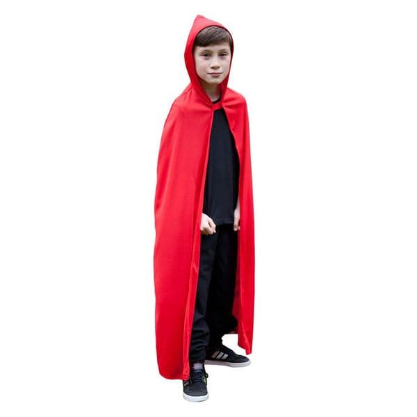 Childrens Childs Hooded Cape Costume Superhero Villian Super Hero Fancy Dress