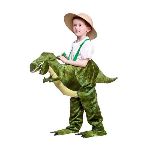 Childrens Deluxe Ride On Dinosaur Costume Unisex Fancy Dress