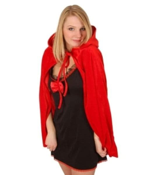 Cloak & Hood Red   75cm Superhero Villian