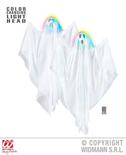 Color Change Light Up Ghost 60cm 2 Styles Ass Decoration Scary Creepy Halloween