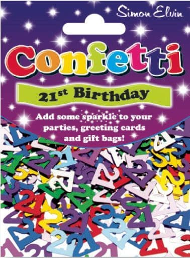 Confetti Sparkling Age 21st Table Sprinkles Shower