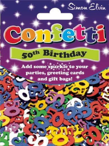 Confetti Sparkling Age 50th Table Sprinkles Shower